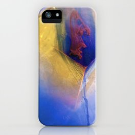 Orange Cube with Blue and Red falls iPhone Case
