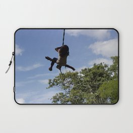 Girl on Swing Laptop Sleeve