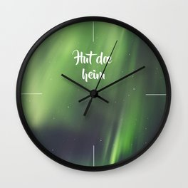 God morgen, far og mor Wall Clock