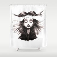 anxiety Shower Curtains featuring Anxiety by Lauren Addy