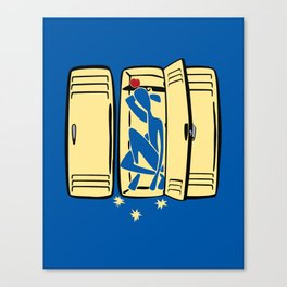 Blue (is shoved in a locker) Canvas Print