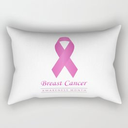 Breast cancer awareness pink ribbon- graphic to support women suffering from breast cancer Rectangular Pillow