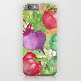 Mixed Vegetables Watercolor iPhone Case
