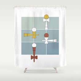 Kendama / passion obsession 1.2 Shower Curtain