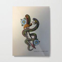 Snake Dagger Metal Print