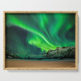 Northern Lights - Aurora Borealis_Winter Serving Tray