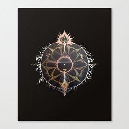 Saraswati Mandala Black Canvas Print