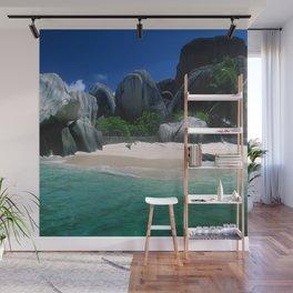 Seychelles Islands' Beach and Emerald Green Indian Ocean Wall Mural