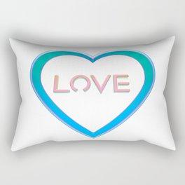 Love Heart Rectangular Pillow