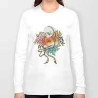 kitsune Long Sleeve T-shirts featuring Kitsune by Total-Cult