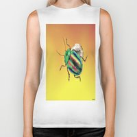 beetle Biker Tanks featuring Beetle by Joe Ganech