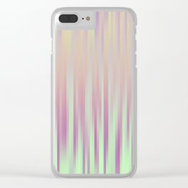 Stripe Pattern V Clear iPhone Case