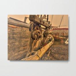 Rigging Metal Print