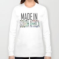 south africa Long Sleeve T-shirts featuring Made In South Africa by VirgoSpice