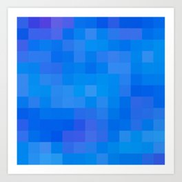 Re-Created Colored Squares No. 60 by Robert S. Lee Art Print