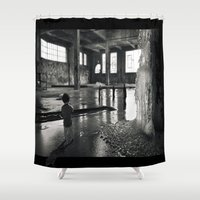 welcome Shower Curtains featuring Welcome by Robin Curtiss