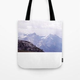 Purple and Pines Tote Bag