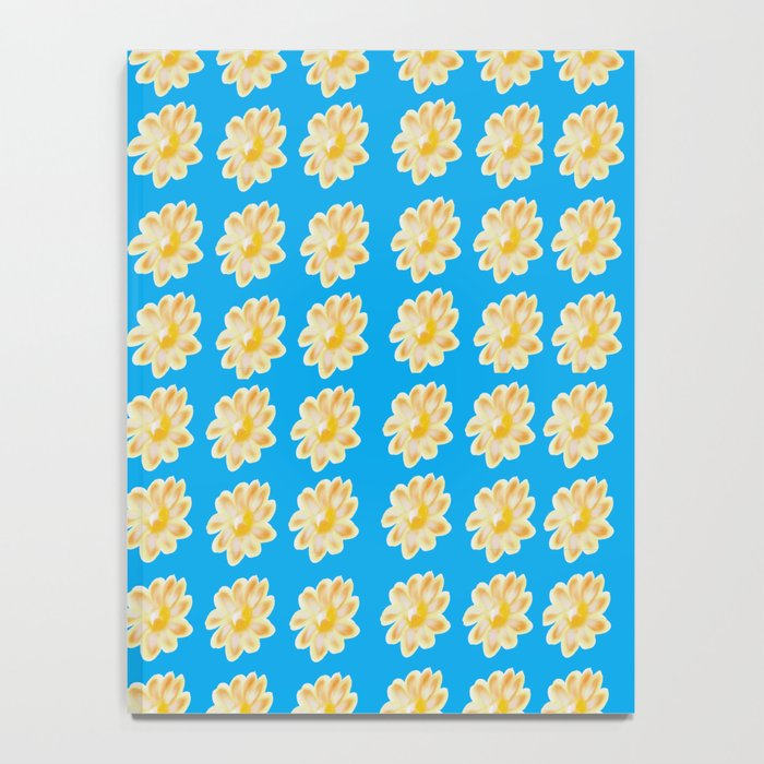 Golden Daisy Swimming in Blue Notebook
