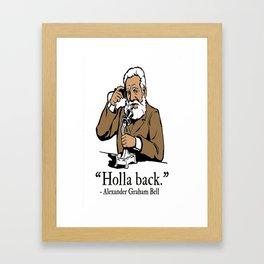 Holla Back Framed Art Print