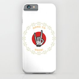 Bone to Rock - Sign of the Horns iPhone Case