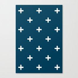 White Crosses on Deep Teal Canvas Print