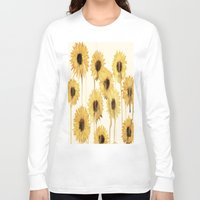 sunflowers Long Sleeve T-shirts featuring Sunflowers by mama wolf spider