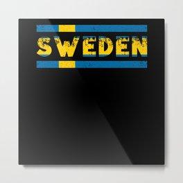 Sweden Flag Metal Print