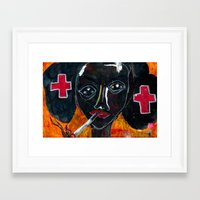 nurse Framed Art Prints featuring Nurse by C Z A V E L L E