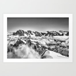 Alps in the Clouds Art Print
