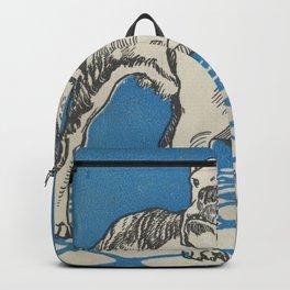 Vintage American Bulldog Illustration (1912) Backpack