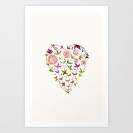 GARDEN HEART - PURPLE Art Print