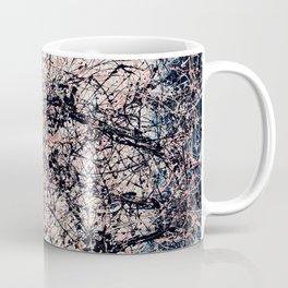 THREE BLUE ROSES - Jackson Pollock style art Coffee Mug