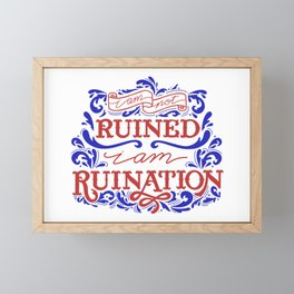 Grishaverse Quote Ruined Ruination Framed Mini Art Print