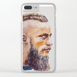 viking warrior Clear iPhone Case