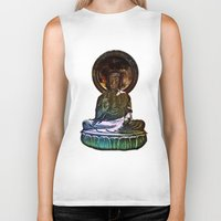 buddah Biker Tanks featuring Buddah - San Francisco Japanese Tea Garden by kreatox