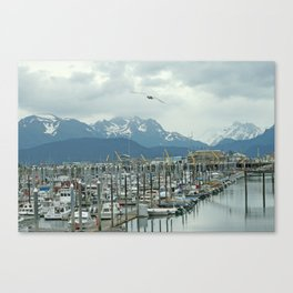 Homer docks Canvas Print