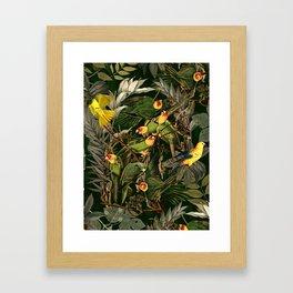 Floral and Birds XXXVI Framed Art Print