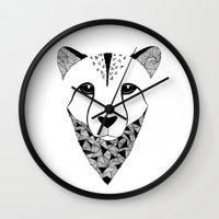 cheetah Wall Clocks featuring Cheetah by Art & Be