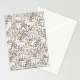 Ladies Only - Mid Century Modern Neutrals Stationery Cards