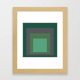 Block Colors - Greens and Grey Framed Art Print