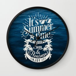 It's Summer Time Wall Clock