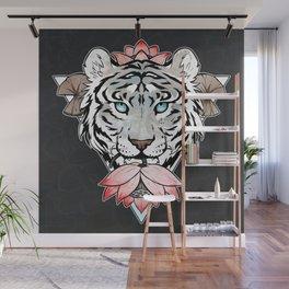 Tiger's lotus Wall Mural