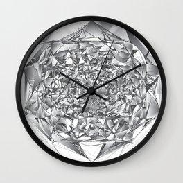 Diamond Rose Wall Clock