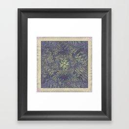 DISTORTED PASTEL PURPLE BRACKEN FERNS Framed Art Print