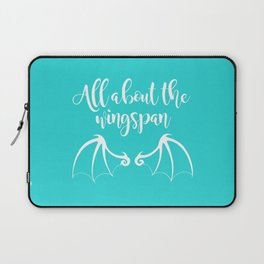 All About the Wingspan blue design Laptop Sleeve