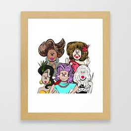 Collage of Queens, RuPaul's Drag Race Framed Art Print