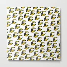 exotic toucan pattern, holiday Metal Print