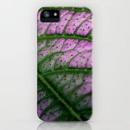 Violet Leaf iPhone Case