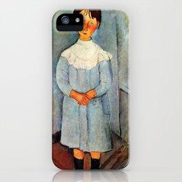 """Amedeo Modigliani """"Little girl in blue"""" iPhone Case"""