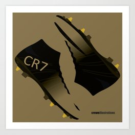 Rare Gold CR7 Art Print